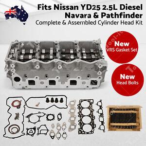 AU Complete Cylinder Head Kit fits Nissan YD25 2.5L Diesel-Navara&Pathfinder FF