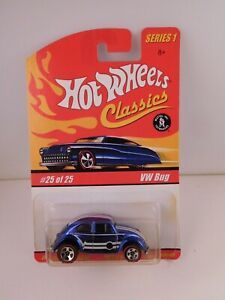 Hot Wheels Classics Series 1 Blue VW BUG in BP #25 of 25