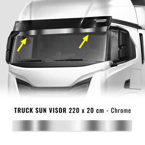 Fascione Parasole Adesivo per Autocarro, Cromo, 220 x 20 cm