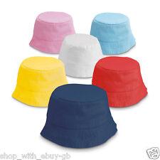 Polyester KIDS Bucket Hat - Summer Fishing Boonie Beach Children Sun Cap Child