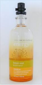 Bath and & Body Works Aromatherapy Energy LEMON ZEST Essence Mist 4 oz. RARE HTF