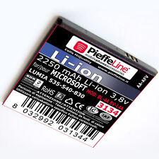 Batteria per Mirosoft NOKIA Lumia 535 540 830 da 2250 MAH tipo  BL-4A BV-L4A