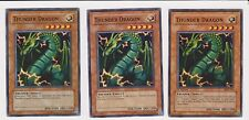 Yugioh NM 3x Thunder Dragon from Various Sets