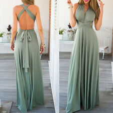 Women's' Evening Dress Convertible Multi Way Wrap Bridesmaid Formal Long Dresses