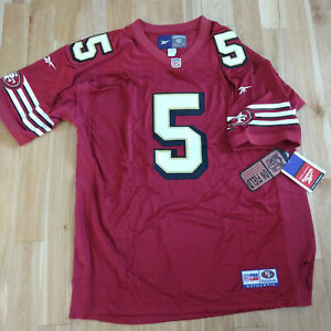 San Francisco 49ers Red Jersey Jeff Garcia Authentic Reebok Size 52 New Tags