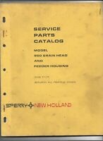 Original New Holland 960 Grain Head Feeder Housing Service Parts Catalog 5096015