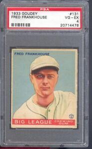 1933 Goudey Fred Frankhouse #131 Boston Braves PSA 4 SET BREAK SUPER CLEAN