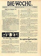 Der englische Angriff auf Tibet Ausführlicher Leitartikel v.Sven v.Hedin c.1904