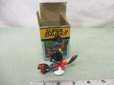 Super Smurf Figure box Vintage Toy Schleich Hobby Horse Toy 6718 Peyo Berrie