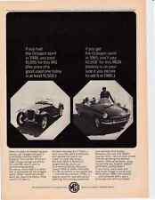 1965 MG MGB  ~  SHOWN WITH 1948 MG  ~  CLASSSIC ORIGINAL PRINT AD