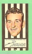 #D83.  COLLINGWOOD JOHN HAMILTON 1953 ARGUS FOOTBALL PORTRAIT MAXI CARD #26