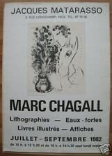 MARC CHAGALL*AFFICHE*SERIGRAPHIE*NICE*1982*VINTAGE*BEST
