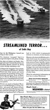 PT Boats Streamlined Terror of Subic Bay WELDWOOD Plywood MOSQUITO 1942 Print Ad