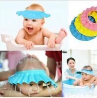 Baby Kids Child Waterproof Shampoo Bath Shower Cap Hat Sun Visor CF