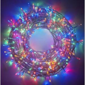Catena serie luci a led multicolore rgb per albero di natale per esterno interno