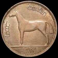 1928 Ireland 1/2 Half Crown Silver Coin - KM# 8 - NICE QUALITY