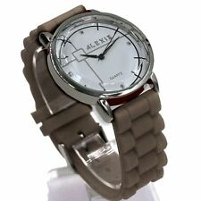 Silicone/Rubber Band Polished Unisex Wristwatches