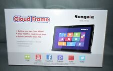 """Sungale 19"""" Smart WiFi Cloud Digital Photo Frame w/ Built-in Camera, Real-Time"""