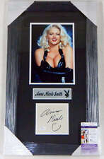ANNA NICOLE SMITH JSA COA SIGNED FRAMED ALBUM PAGE AUTHENTICATED AUTOGRAPH