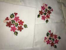 Handmade Embroidery Flower Napkins from Ecuador - Tandana Foundation