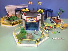 (O4093.2) playmobil Rare set zoo bébé animaux année 2007 ref 4093