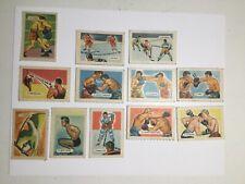 Wheaties Kellogg's rare sports hockey and boxing 12 insert cards 1950s