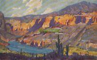 Postcard Southern Lines Pacific Railroad Lake Apache Apache Trail AZ Arizona