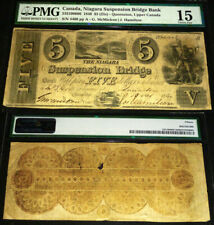 1840 NIAGARA SUSPENSION BRIDGE $5 (HIGHEST PMG GRADE) PMG 15