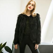 Women's Winter Warm Faux Fur Fox Coat Ladies Jacket Thick Parka Outwear Overcoat
