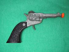 Vintage 1960's Diecast Toy Cap Gun w/ Indian Chief on Both Grips