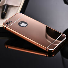 Aluminum Metal phone bumper frame+Mirror polish back cover smart phone case slim