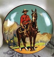 Vintage Equestrian Horse Canadian Mountie Thorne's Toffee Advertising Small Tin