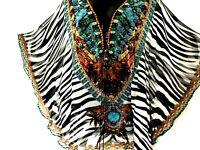 Kaftans/ Long Top / Embellished / Lace - Up / 100% Viscose / Wholesale RR$139.95