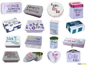 Bright Side Tin Metal storage Box Lock Wedding Keepsake Christmas Birthday Gift