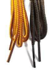 3 Paires De 130cm Lacets Chaussures Noir, Marron Et Moutarde Jaune Dentelle