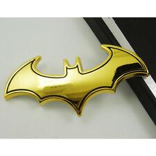 Cool Gold 3D Chrome Metal Bat Car Auto Decoration Emblem Badge Decal Sticker
