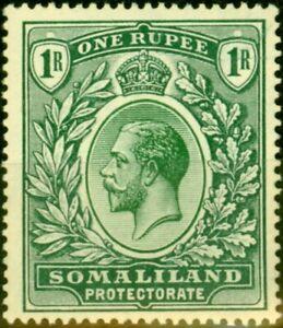 Somaliland 1912 1R Green SG69 Fine Lightly Mtd Mint