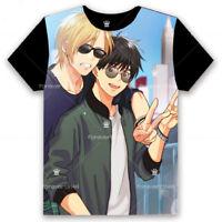 Anime BANANA FISH Unisex Pullover Casual Black T-shirt Short Sleeve Tee Tops#77