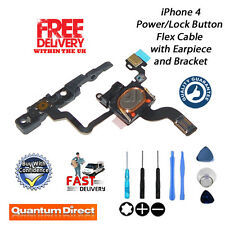 NEW iPhone 4 Replacement Power/Lock Button/Switch + Earpiece + Bracket w/Tools