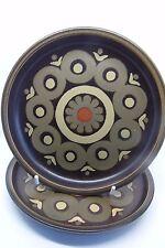 Denby Arabesque Side Plates x 2 17 cm Brown British