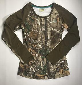 Women's Cabela's Camouflage Long Sleeve Top Size Medium