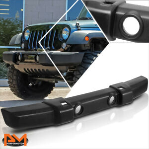 For 07-18 Jeep Wrangler OE Style Front Lower Bumper w/Tow Hook & Fog Light Holes