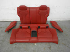 2015 14 15 16 17 18 19 BMW M4 F82 Rear Red Leather Seat Set #1525