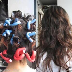 10PCS Curler Makers Soft Foam Bendy Twist Curls DIY Styling Hair Rollers Tool US