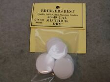 """Bridgers Best Dry Shooting Patches 40-49 Caliber .015"""" Thick Stock # 4015"""