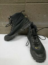 Vintage Womens 8.5 Black Canvas 1990s Nike Hiking Boots 950103-Ia