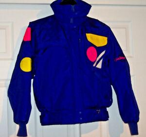 OBERMEYER Womens Ski Jacket Insulated Purple 3 Ring Sz 6 Retro - Mint Condition