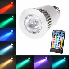 E27 5W Dimmable RGB 16 Color Changing LED Light Bulbs Spotlight Lamp Flashlight