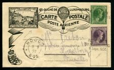 Lot N°9391 LUXEMBOURG - Carte Postale Ballon avec N°164 et 167 annulé griffe