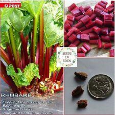 15 RHUBARB SEEDS(Rheum Rhabarbaum);  Heritage variety vegetable plant